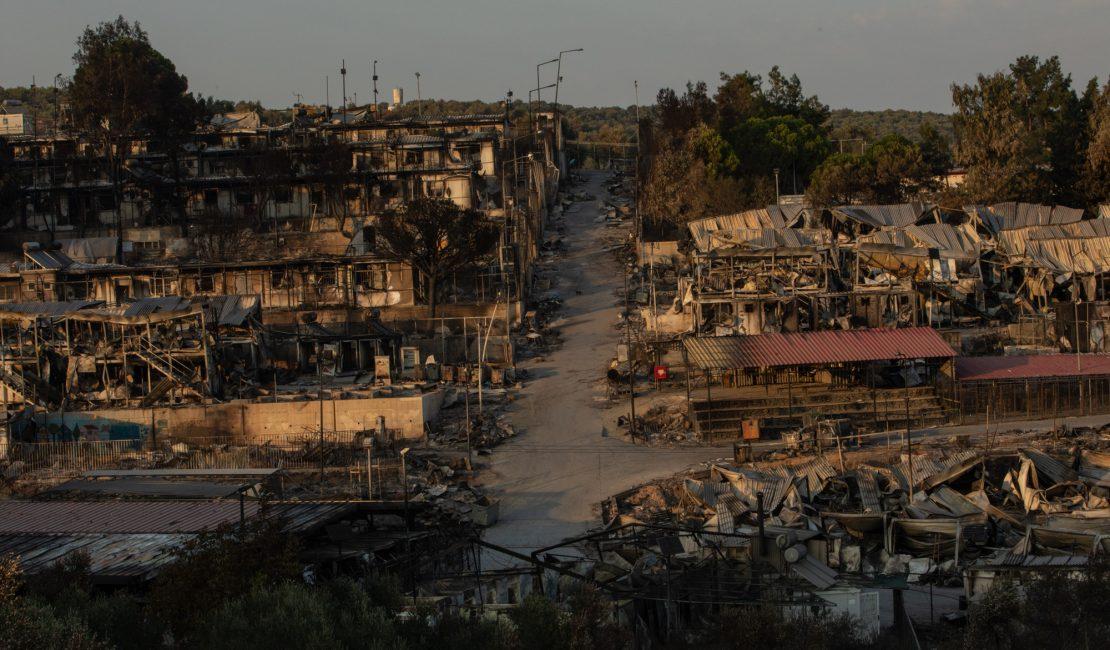 Lesbos después del incendio