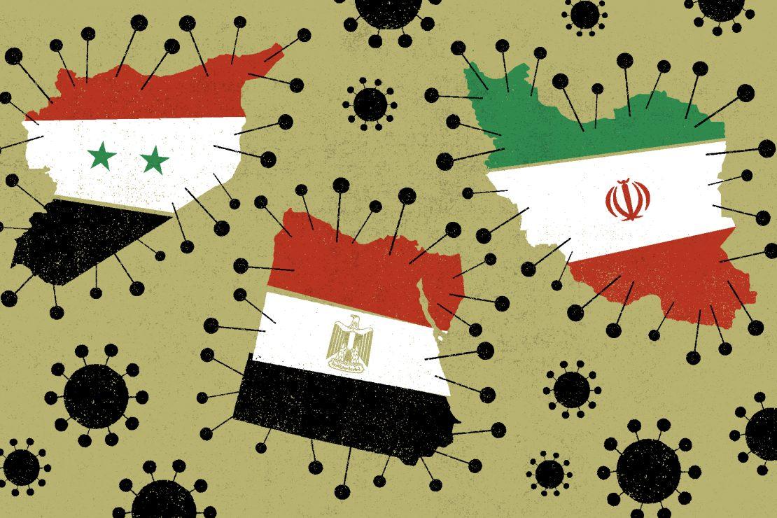 La pandemia en Egipto, Irán y Siria