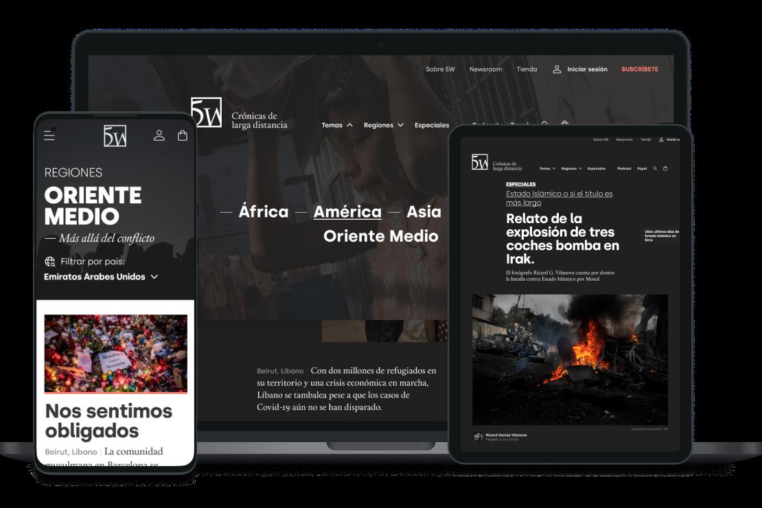 5W lanza su nueva web